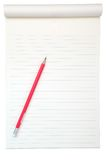 Blank paper with pencil Stock Photo