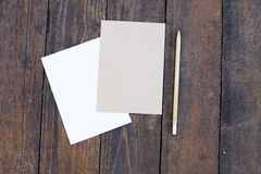 Blank paper with pencil Stock Images