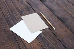 Blank paper with pencil Royalty Free Stock Images