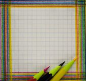 Blank paper and pencil writing royalty free stock photo
