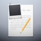 Blank paper and polaroid photo frame. Vector illustration of paper blank and polaroid photo frame background Stock Images