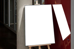 Blank  paper poster frame Stock Photography