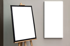 Blank  paper poster frame Stock Photos
