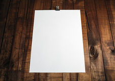 Blank paper poster royalty free stock photos