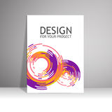 Blank paper poster on wall. Mockup presentation Royalty Free Stock Photo