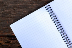 Blank paper put on wooden Royalty Free Stock Photos