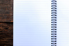 Blank paper put on wooden Stock Image