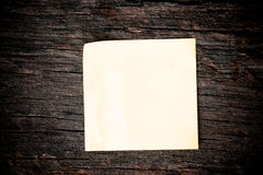 Blank paper put on wooden Stock Images