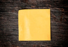 Blank paper put on wooden Stock Photo