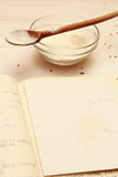 Blank paper for recipes Stock Photo