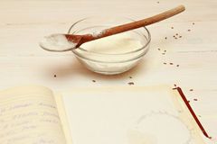 Blank paper for recipes Royalty Free Stock Images