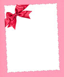 Blank paper with red bow Stock Photography