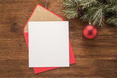 Blank paper and Red envelope Stock Photos