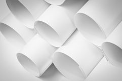 Blank paper rolls Royalty Free Stock Photo
