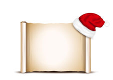 Blank Paper With Santa Hat Stock Photos