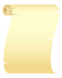 Blank Paper Scroll. Isolated on a white. Vector illustration Royalty Free Stock Photography