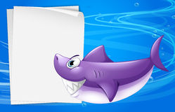 A blank paper in the sea. Illustration of a blank paper in the sea Stock Images