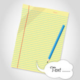 Blank paper sheet. And blue pencil Royalty Free Stock Photos