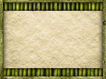 Blank paper sheet on bamboo background Stock Image