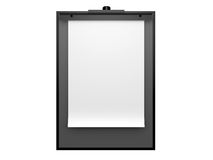 Blank Paper Sheet on Black Holder Stock Photography