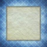 Blank paper sheet on blue patterned background stock illustration