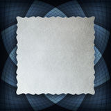 Blank paper sheet on blue rosette Royalty Free Stock Images