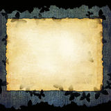 Blank paper sheet on denim background Stock Photo