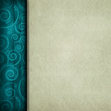 Blank paper sheet and patterned background Stock Image