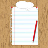 Blank paper sheet with pencil Stock Photos
