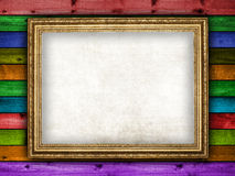 Blank paper sheet in picture frame Stock Photo