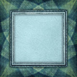 Blank paper sheet in picture frame Stock Images