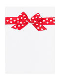 Blank paper sheet with red bow Stock Photos
