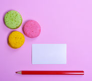 Blank paper sheet and red pencil Stock Photos