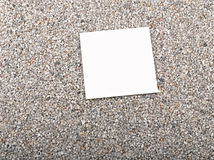 blank paper sheet,sand Royalty Free Stock Photos
