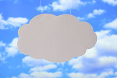 Blank paper sheet in the shape of cloud Stock Photography
