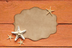 Blank paper sheet and starfish Royalty Free Stock Images