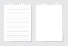 Blank paper sheet from writing pad vector Royalty Free Stock Images