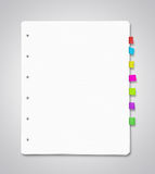 Blank paper sheets Stock Photos