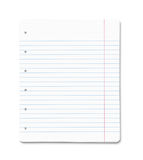 Blank paper sheets with clipping path Stock Photos
