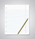 Blank paper sheets with copy space Royalty Free Stock Photos