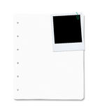 Blank paper sheets with copy space Royalty Free Stock Photography