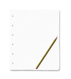 Blank paper sheets with copy space Royalty Free Stock Photo