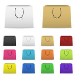 Blank paper shopping bags set  on white Stock Image