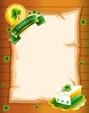 A blank paper with St. Patrick's Day greeting Royalty Free Stock Photography