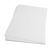 Blank paper stack Royalty Free Stock Photos