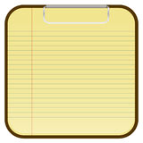 Blank Paper tablet Stock Image