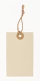 Blank paper tag. Blank tag tied with rope stock photos