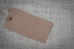 Blank Paper Tag Stock Image