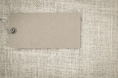 Blank Paper Tag Royalty Free Stock Photo