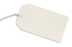 Blank paper tag Stock Photography
